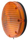optronics trailer lights tail non-submersible 7 inch round transit turn signal light - amber