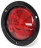optronics trailer lights tail stop/turn/tail one led light - stop turn submersible round red lens black flange