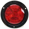 optronics trailer lights tail submersible one led light - stop turn round red lens black flange