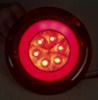 GloLight LED Trailer Tail Light - Stop,Turn,Tail - Submersible - 21 Diodes - Round - Clear Lens Red STL101RCFMB