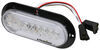 optronics trailer lights tail 7-1/2l x 3-1/2w inch glolight led light - stop turn backup submersible 22 diodes clear lens