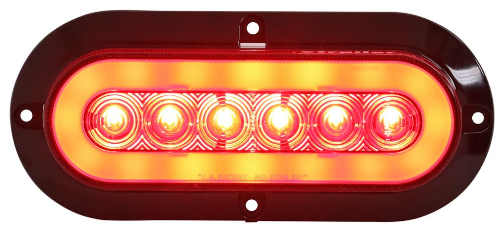 Sealed Waterproof 10 LED Surface // Flange Mount Trailer Lights Lifetime Warranty! Red STL78AB Amber with Amber LEDs Turn//Marker Amber and White with Clear Lens Red with Clear Lens