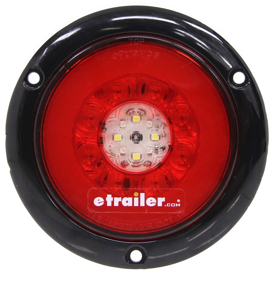Fusion LED Trailer Tail Light - Stop, Tail, Turn, Backup - Submersible - Round - Red/Clear Lens Stop/Turn/Tail/Backup STL201RFMB