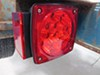 Miro-Flex LED Trailer Tail Light - 6 Function - Submersible - 18 Diodes - Square - Red - Passenger Stop/Turn/Tail,Side Marker,Side Reflector,Rear Refl
