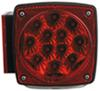 optronics trailer lights submersible 5l x 5w inch miro-flex led tail light - 7 function 20 diodes square red driver
