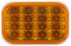 optronics trailer lights submersible 5l x 3-1/2w inch miro-flex led turn signal and parking light - 16 diodes amber qty 1