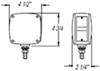 STL53ARPB - 4-1/2L x 4-1/2W Inch Optronics Trailer Lights