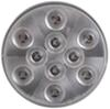 optronics trailer lights submersible 4 inch diameter sealed round led stop/turn/tail light 3-function 10 diode - red w/ clear lens