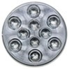 optronics trailer lights tail 4 inch diameter sealed round led stop/turn/tail light 3-function 10 diode - red w/ clear lens