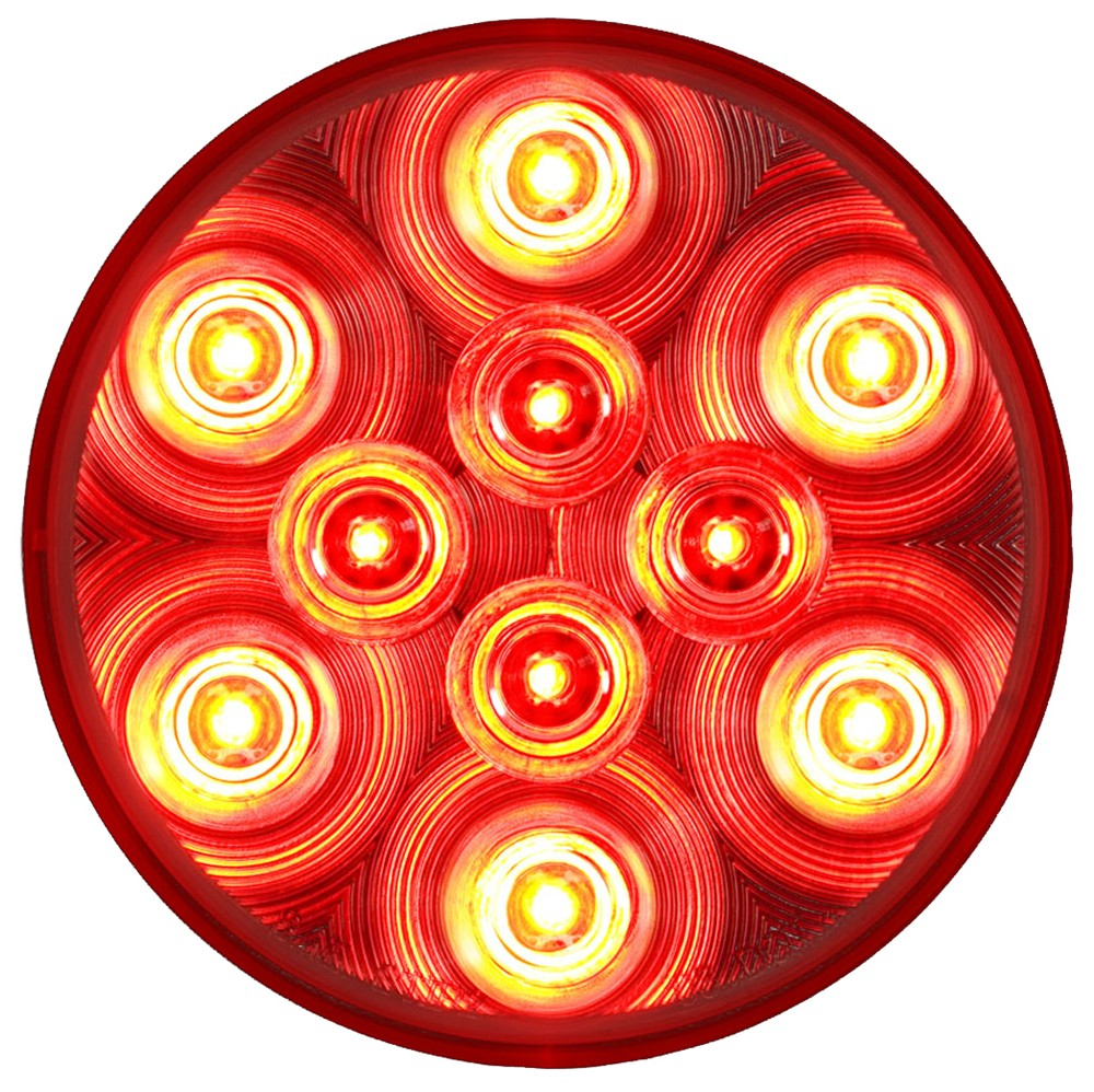 Sealed  4 U0026quot  Round  Led Trailer Stop  Turn  Tail Light  3