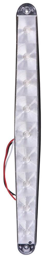 ThinLine LED Trailer Tail Light - Stop, Tail, Turn - Submersible - 9 Diodes - Oval - Clear Lens White STL63CRB
