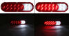 optronics trailer lights tail stop/turn/tail/backup fusion led light - stop turn backup submersible oval red/clear lens