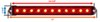 Thinline LED Trailer Tail Light w/ Reflector - Stop, Tail, Turn - Submersible - 11 Diodes - Red Lens Surface Mount STL69RRXB