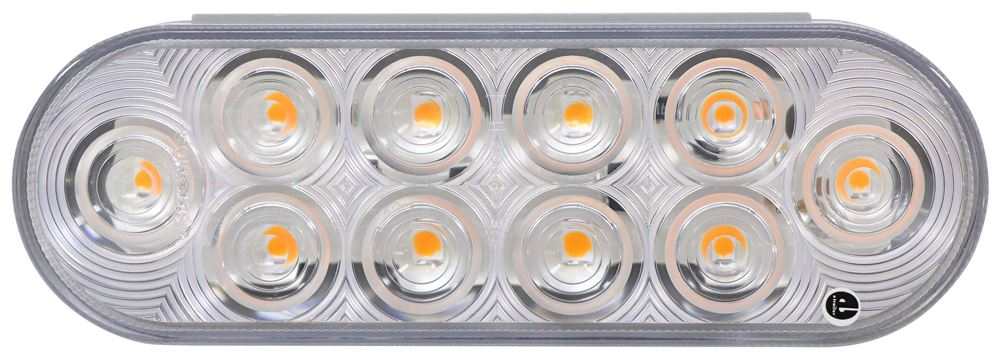 Optronics LED Trailer Turn Signal and Parking Light - Submersible - 10 Diode - Round - Clear Lens Submersible Lights STL72CAB