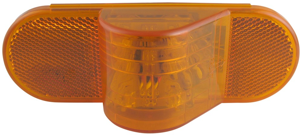 Optronics LED Side Marker Light and Mid-Ship Turn Signal - Submersible - 9 Diodes - Amber Lens 6-1/2L x 2W Inch STL75AB