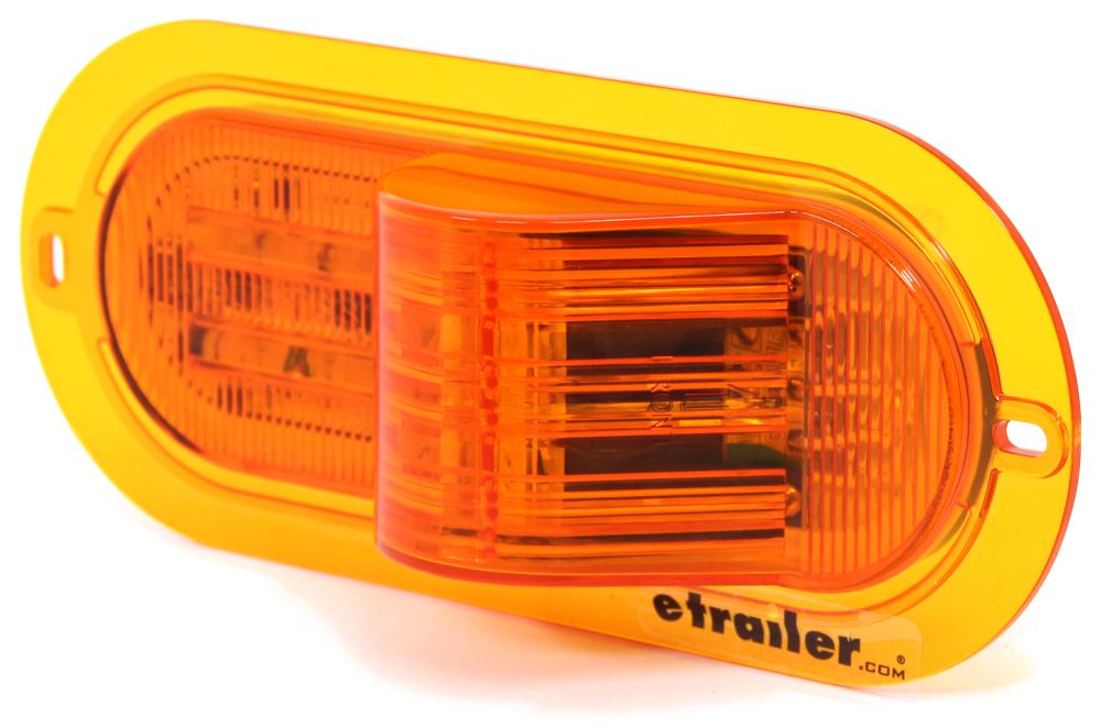 LED Mid-Ship Turn Signal and Side Marker Light - Submersible - 10 Diodes - Amber Lens Amber STL75AMFB