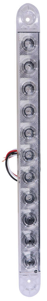 Optronics ThinLine LED Trailer Tail LIght - Stop, Turn, Tail - Submersible - 11 Diodes - Clear Lens LED Light STL87RCB