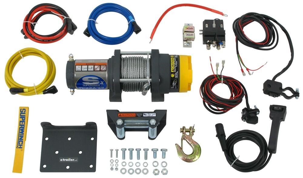 Superwinch Terra Series ATV Winch - Wire Rope - Roller Fairlead - 2,500 lbs Plug-In Remote SW1125220