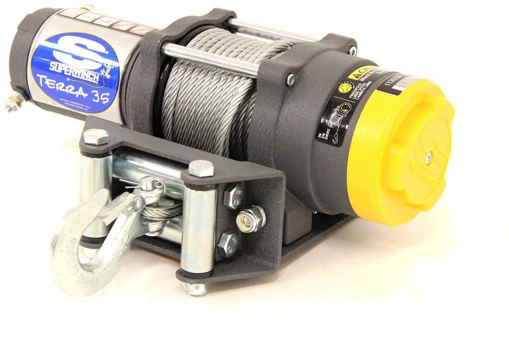 Superwinch Terra Series Atv Winch Wire Rope Roller Fairlead 3 500 Lbs Superwinch Electric Winch Sw1135220