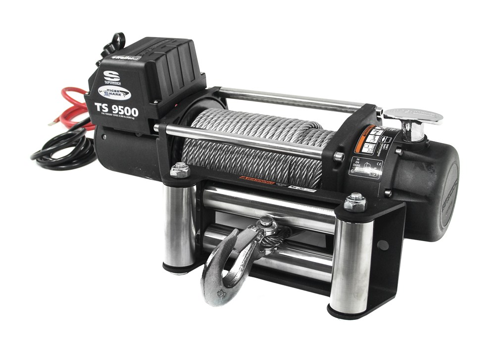 Superwinch Tiger Shark Off Road Winch Wire Rope Roller Fairlead 9 500 Lbs Superwinch Electric Winch Sw1595200
