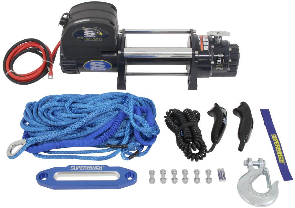 Superwinch Talon Off-Road Winch - Synthetic Rope - Hawse Fairlead - 12,500 lbs 6.0 HP SW1612201