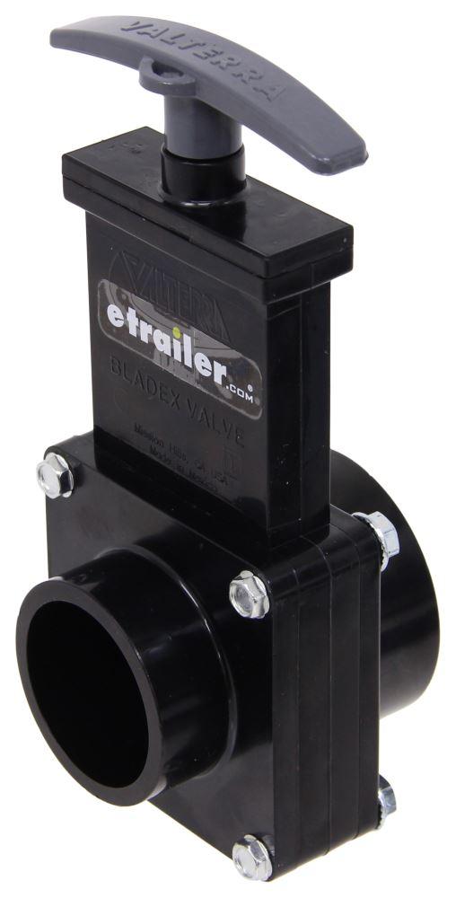 """Valterra Waste Valve for RV Gray Water Tank - 1-1/2"""" Diameter - Spigot to Hub Stationary Valve T1001"""