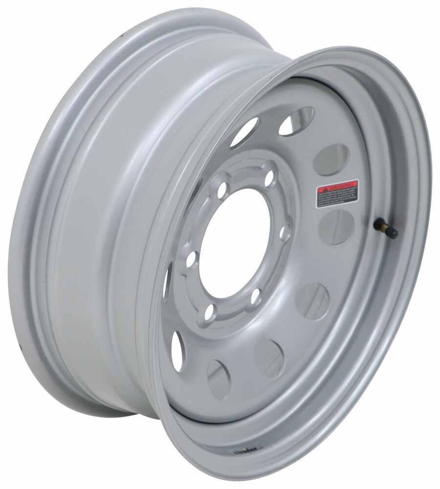 "Taskmaster Steel Modular Trailer Wheel - 15"" x 6"" Rim - 6 on 5-1/2 - Silver 15 Inch T156SMN6"