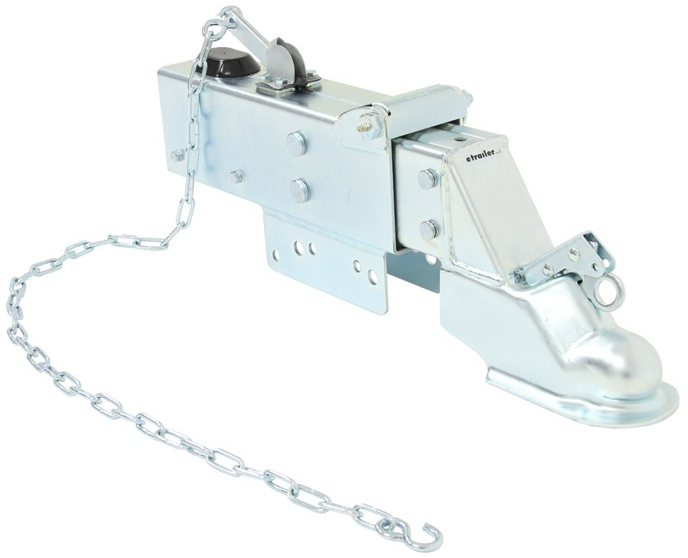 "Titan Zinc-Plated Brake Actuator w/ Drop - Drum - 2-5/16"" Ball - Bolt On - 12,500 lbs Straight Tongue Coupler T2478100"