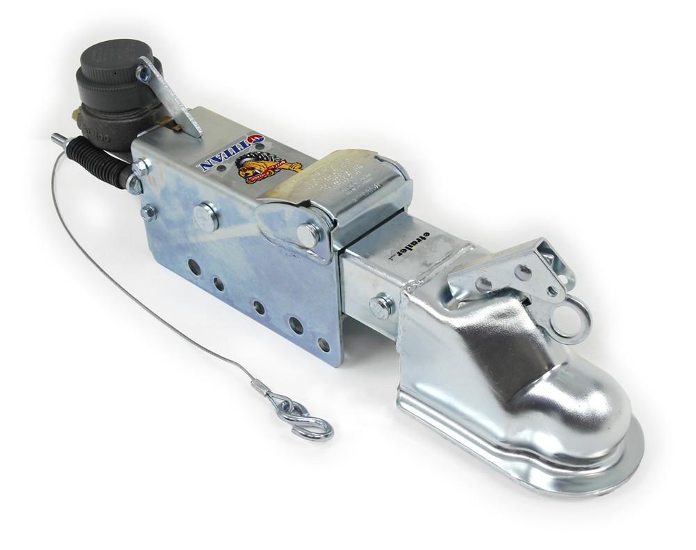 "Titan Zinc-Plated Brake Actuator w/ Lockout Shield - Disc - 2-5/16"" Ball - 8,000 lbs 2-5/16 Inch Ball Coupler T4747210"