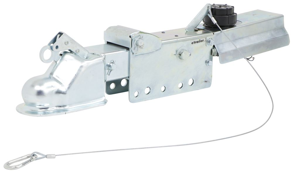 "Titan Zinc-Plated Brake Actuator w/ Electric Lockout - Disc - 2-5/16"" Ball - 8,000 lbs Straight Tongue Coupler T4747220"