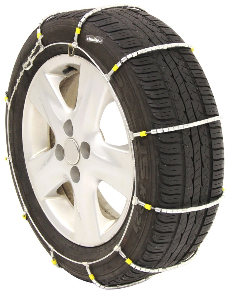 Titan Chain Cable Snow Tire Chains - Ladder Pattern - Steel Rollers - 1 Pair Steel Rollers Over Steel TC1034