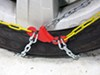 Titan Chain Alloy Snow Tire Chains - Diamond Pattern - Square Link - 1 Pair No Rim Protection TC1545