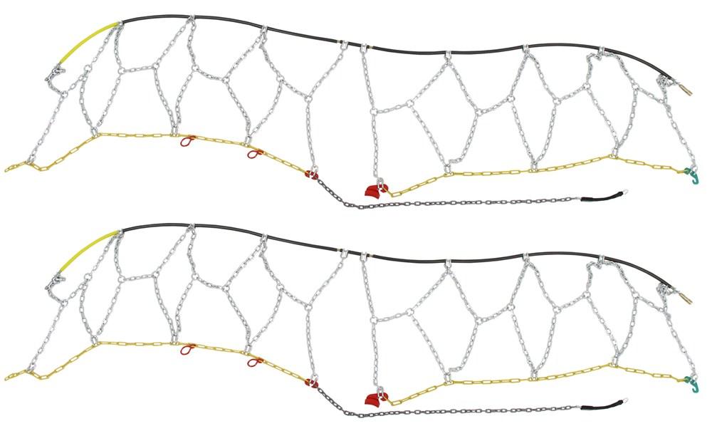 Titan Chain Alloy Snow Tire Chains - Diamond Pattern - Square Link - 1 Pair Class S Compatible TC1550