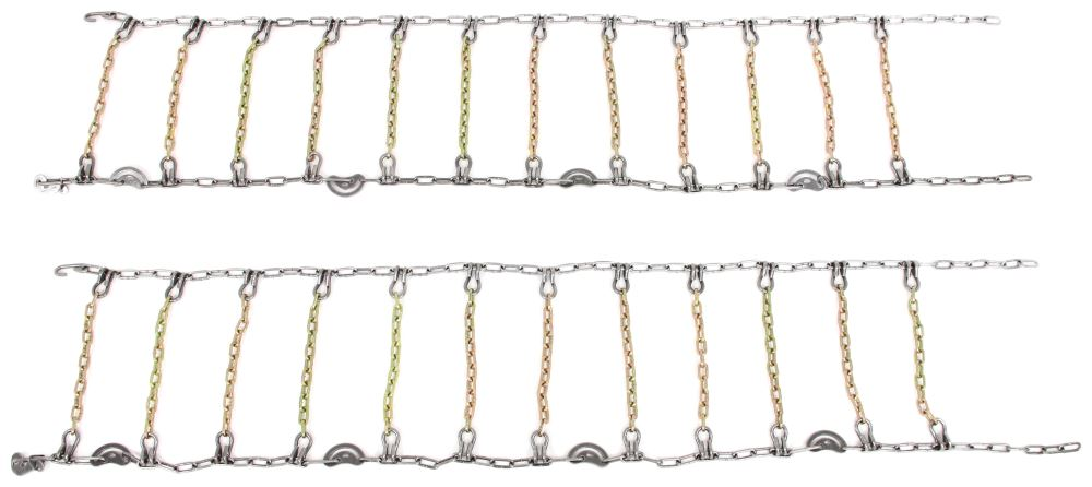 Titan Chain Alloy Snow Tire Chains w/ Cams - Ladder Pattern - Square Link - 1 Pair Assisted TC2219SCAM