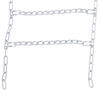 Titan Chain Snow Tire Chains with Cams - Ladder Pattern - Twist Links - 1 Pair No Rim Protection TC2228CAM