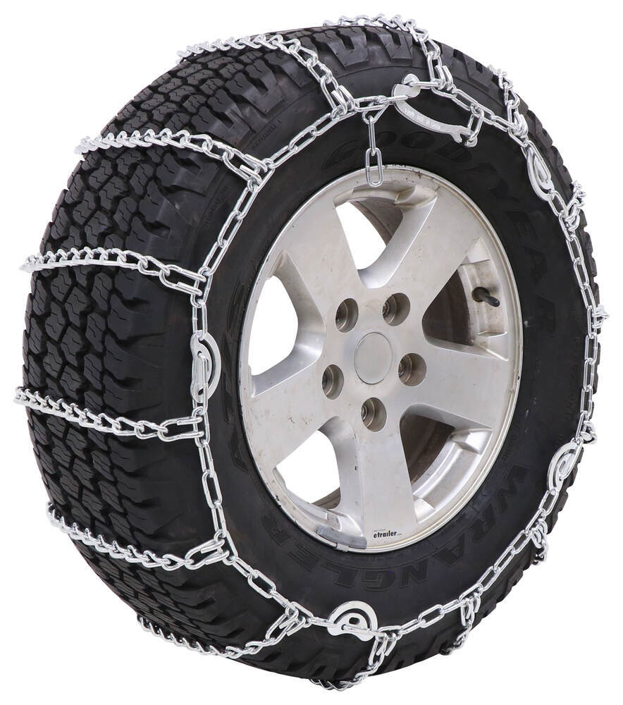 Titan Chain Snow Tire Chains with Cams - Ladder Pattern - Twist Links - 1 Pair Drive On and Connect TC2228CAM