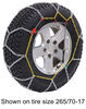 titan chain tire chains steel square link on road only tc2326