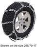 titan chain tire chains steel twist link mud service snow - ladder pattern 1 pair