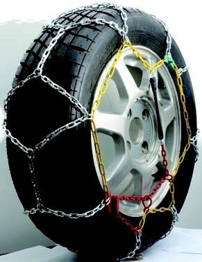 Titan Chain Alloy Snow Tire Chains - Diamond Pattern - Square Link - 1 Pair On Road Only TC2533