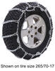 titan chain tire chains on road only snow w/ cams - ladder pattern v-bar link 1 pair