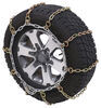 Titan Chain Snow Tire Chains for Wide Base Tires - Ladder Pattern - Square Link - 1 Pair Drive On and Connect TC3229S