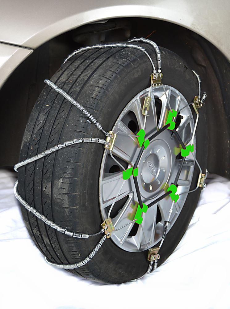 Titan Chain Diagonal Alloy Cable Snow Tire Chains - Passenger Car - 1 Pair Manual TC339DC
