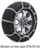 titan chain tire chains on road or off snow for wide base tires - ladder pattern v-bar links 1 pair