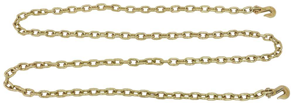 "Titan Chain Transport Chain w/ Grab Hooks - 3/8"" Thick Links - 16' Long - 6,600 lbs Tie Down Chain TCG70-10-16"