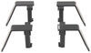 Brophy Stake Pocket Mounted Camper Tie Downs - Bed Mount - Black Powder Coated Steel - Qty 4 Bed-Mounted TDSF