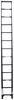 telesteps rv ladders exterior telescoping telescopic ladder - 12-1/2' extended height 300 lbs 16' reach black