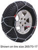 konig tire chains on road only self-tensioning snow - diamond pattern d link xg12 pro size 267