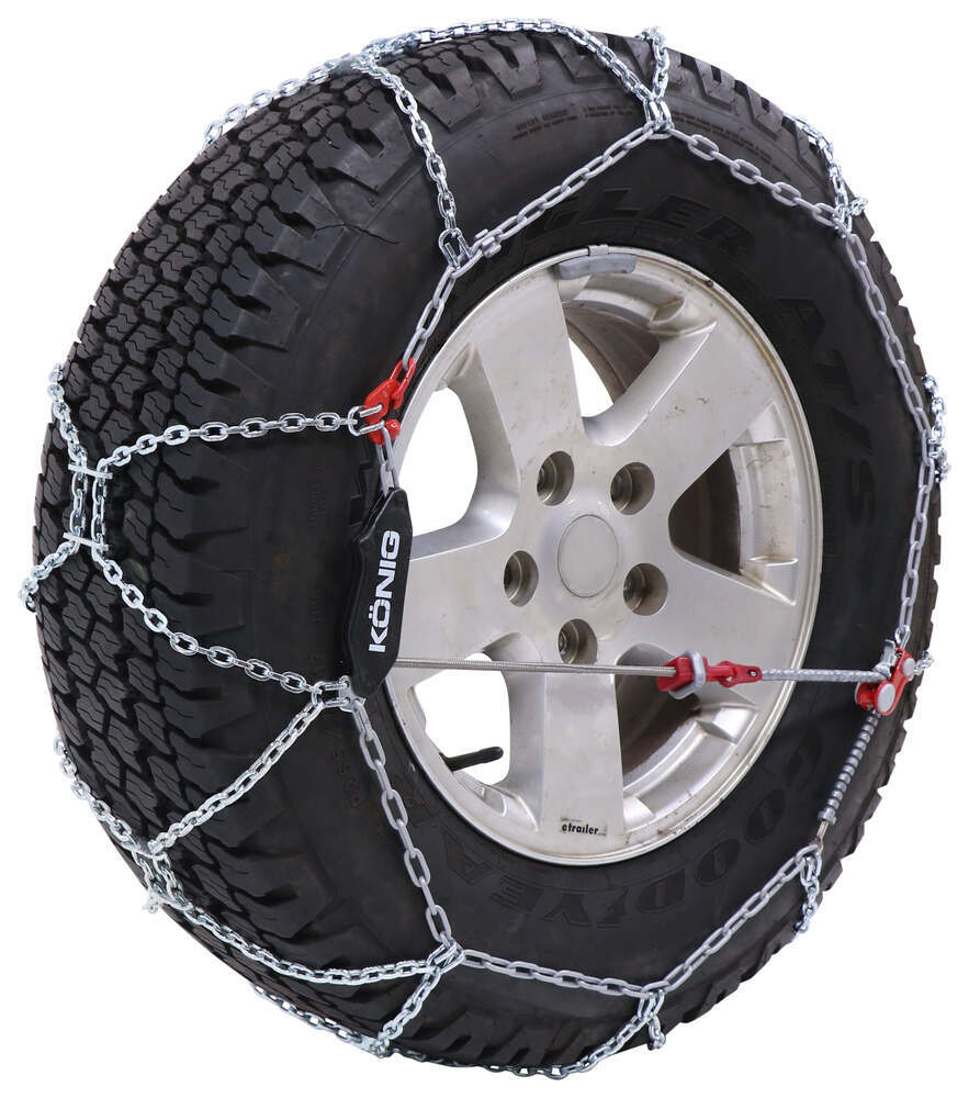 Konig Self-Tensioning Snow Tire Chains - Diamond Pattern - D Link - XG12 Pro - Size 267 On Road Only TH01594267
