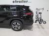 2021 toyota highlander hitch bike racks thule tilt-away rack 2 bikes th44vr