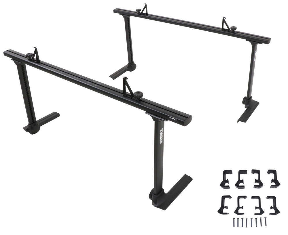 Thule Xsporter Pro Adjustable Height Truck Bed Ladder Rack - Aluminum - 450 lbs - Black Aluminum TH500XTB-THXK4B